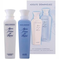 Estuche Adolfo Dominguez Agua Fresca de Rosas Body Lotion 200 ml +  Gel de ducha 200 ml