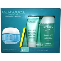 Estuche Biotherm Aquasource Perfection Todo Tipo De Piel 50 ml +  Loción Biosource 100 ml + Limpiador Biosource 50 ml