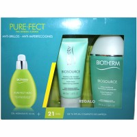 Estuche Biotherm Pure Efect Skin Gel Hidratante 50 ml + Loción Biosource 100 ml + Limpiador Biosource 50 ml