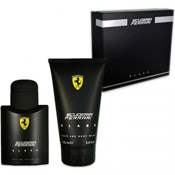 Ferrari Black Gift Set Eau de Toilette 75 ml + Gel