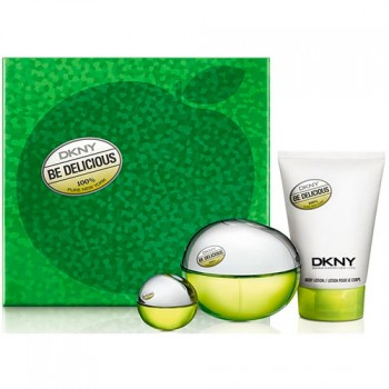 DKNY Be Delicious Gift Set Eau de Parfum 100 ml + Body Milk + 7 ml