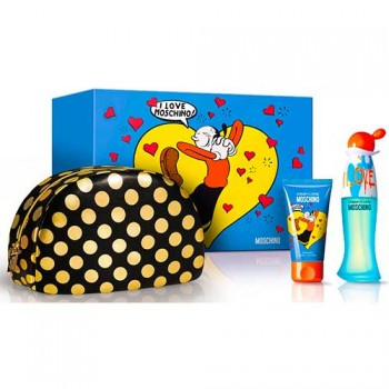 Estuche Moschino Cheap  Chic I Love Love Edt 50 ml + Regalo Body Milk + Neceser