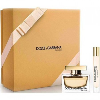 Estuche Dolce and Gabbana The One 75 ml Edp + Body Milk 100 ml + Miniatura 74 ml