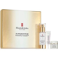 Elizabeth Arden Flawless Future Powered By Ceramide Moisture Cream 50 ml Gift Set Caplet Serum 2 ml + Eye Contour Gel 2 ml