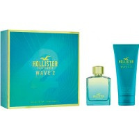 Estuche Hollister Wave 2 Him Eau de Toilette 100 ml + Body Shower 200 ml