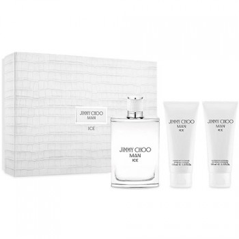 Jimmy Choo Ice Man Eau de Toilette 100 ml Gift Set  After Shave 150 ml + Body Shower 150 ml