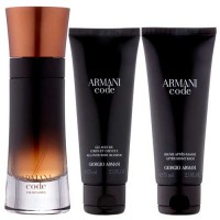 Estuche Giorgio Armani Code Profumo Men 110 ml + Gel de Baño 75 ml + After Shave 75 ml