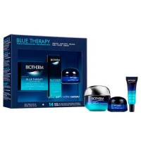 Estuche Biotherm Blue Therapy Accelerated Crema 50 ml + Serum Blue Therapy Accelerated 10 ml + Blue Therapy Crema de Noche 15 ml