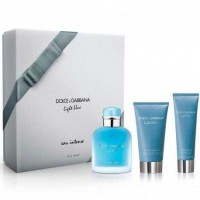 Estuche Dolce  Gabbana Light Blue Intense Homme Edp 100 ml + After Shave 75 ml + Gel de Ducha 50 ml