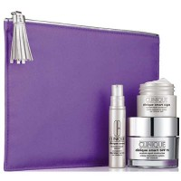 Clinique Smart Dry Skin 50 ml Gift Set Smart Night Moisturizer 15 ml + Clinique Smart Custom-Repair Serum 10 ml + Dressing Case