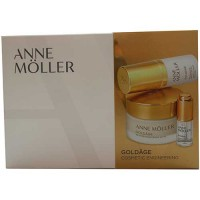 Anne Moller Goldage Restorative Cream SPF 15 50 ml Gift Set Goldage Nourishing Serum in Oil 15 ml + Rosage Concentrated Hyaluron