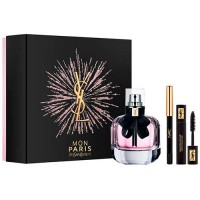 Yves Saint Laurent Mon Paris Eau de Parfum 50 ml Gift Set Volume Effect Faux CIils 2 ml Mascara + Eye Pencil Dessin Du Regard 0