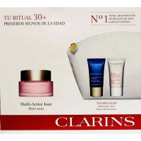 Clarins Targets Fine Lines Antioxidant Day Cream Dry Skin 50 ml Gift Set Targets Fine Lines Revitalizing Night Cream 15 ml + Ins
