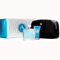 Azzaro Chrome Eau de Toilette 100 ml Gift Set Body Shower 50 ml + Dressing Case