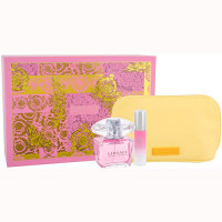 Versace Bright Crystal Eau de Toilette 90 ml Gift Set Body Lotion 100 ml + Dressing Case