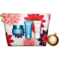 Clarins Hydra - Essentiel Moisturizes and Quenches Silky Cream 50 ml Gift Set Gentle Refiner Exfoliating Cream 15 ml + SOS Hydra