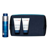 Clarins Men Set Revitalizing Gel 50ml Gift Set Active Face Wash 30ml + Shampooing Douche 30ml + Bag