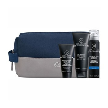 Estuche Collistar Uomo Super-Hidratante 50 ml + Espuma de Afeitar Adherencia Perfecta 200 ml + Gel de ducha Toning 250 ml + Nece