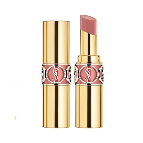 yves saint laurent rouge volupte shine lipstick 47 beige blouse