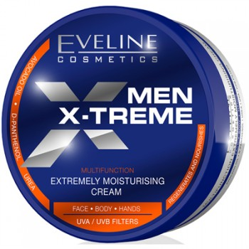 Eveline Men X-treme Extremely Moisturising Cream for Face Body and Hands 200 ml
