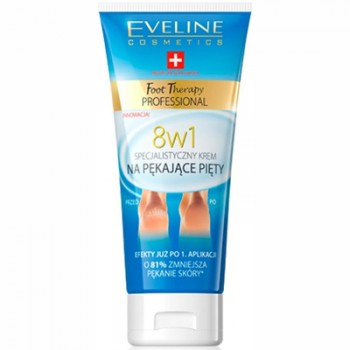 Eveline Foot Therapy Professional Expert Cream for Cracked Heels 8 in 1 100 ml