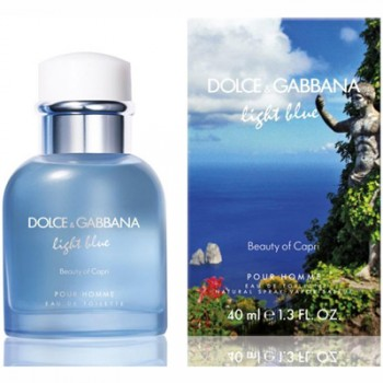 Dolce  Gabbana Light Blue Beauty of Capri pour Homme Eau de Toilette 40 ml